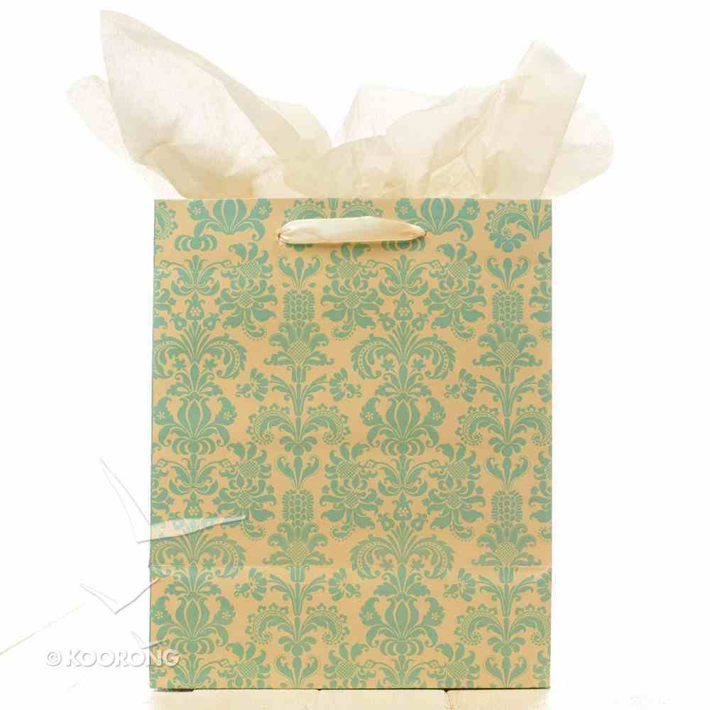 Gift Bag Medium: Grace and Glory Blue/Cream Pattern Stationery