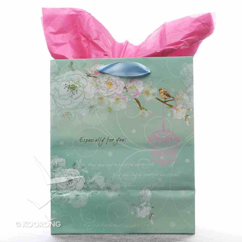 Gift Bag Medium: Precious and Loved Blue/Pink Bird Stationery