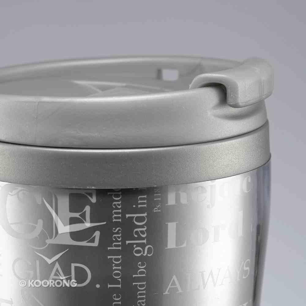 Polymer 360ml Mug: Rejoice White/Gray Homeware