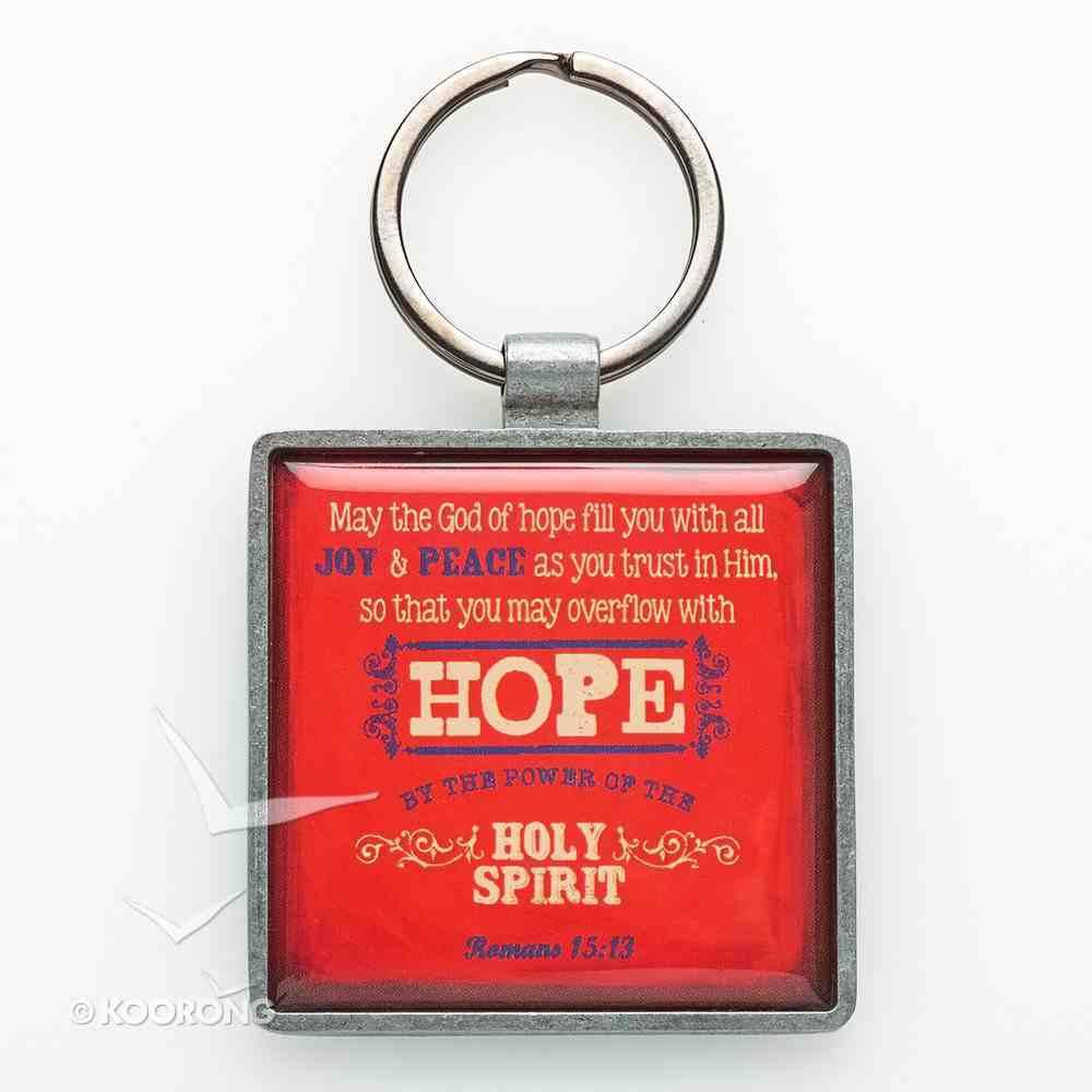 Metal Keyring: Hope Red Jewellery