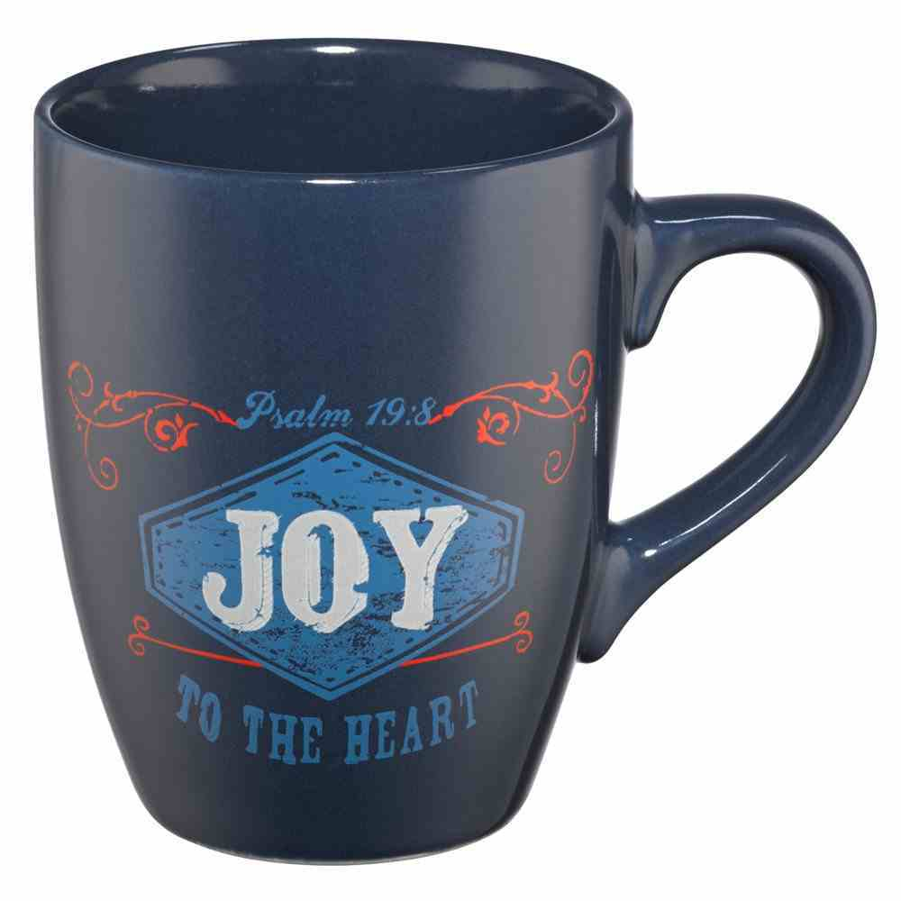 Inspirational Mug: Joy, Navy, Red & Cream (400ml) Homeware