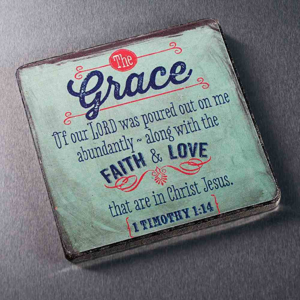 Rbg: Wooden Magnet With Hanging Tag: Grace Grey Novelty