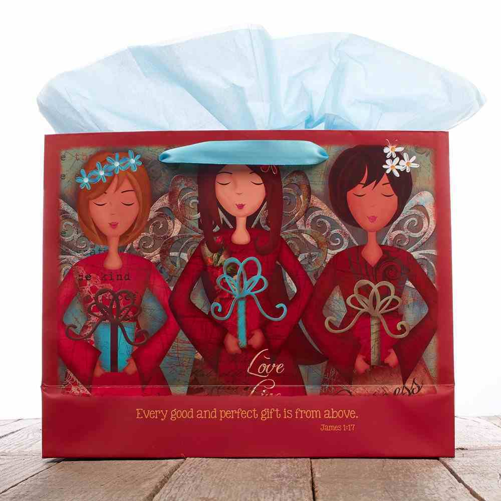 Gift Bag Large: Three Angels Stationery