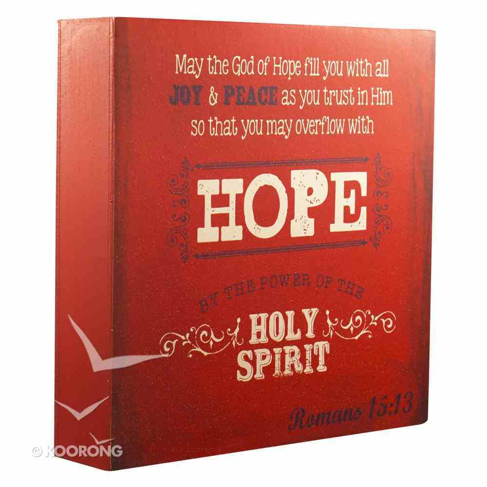 Wooden Block Plaque: Hope (Red) Plaque