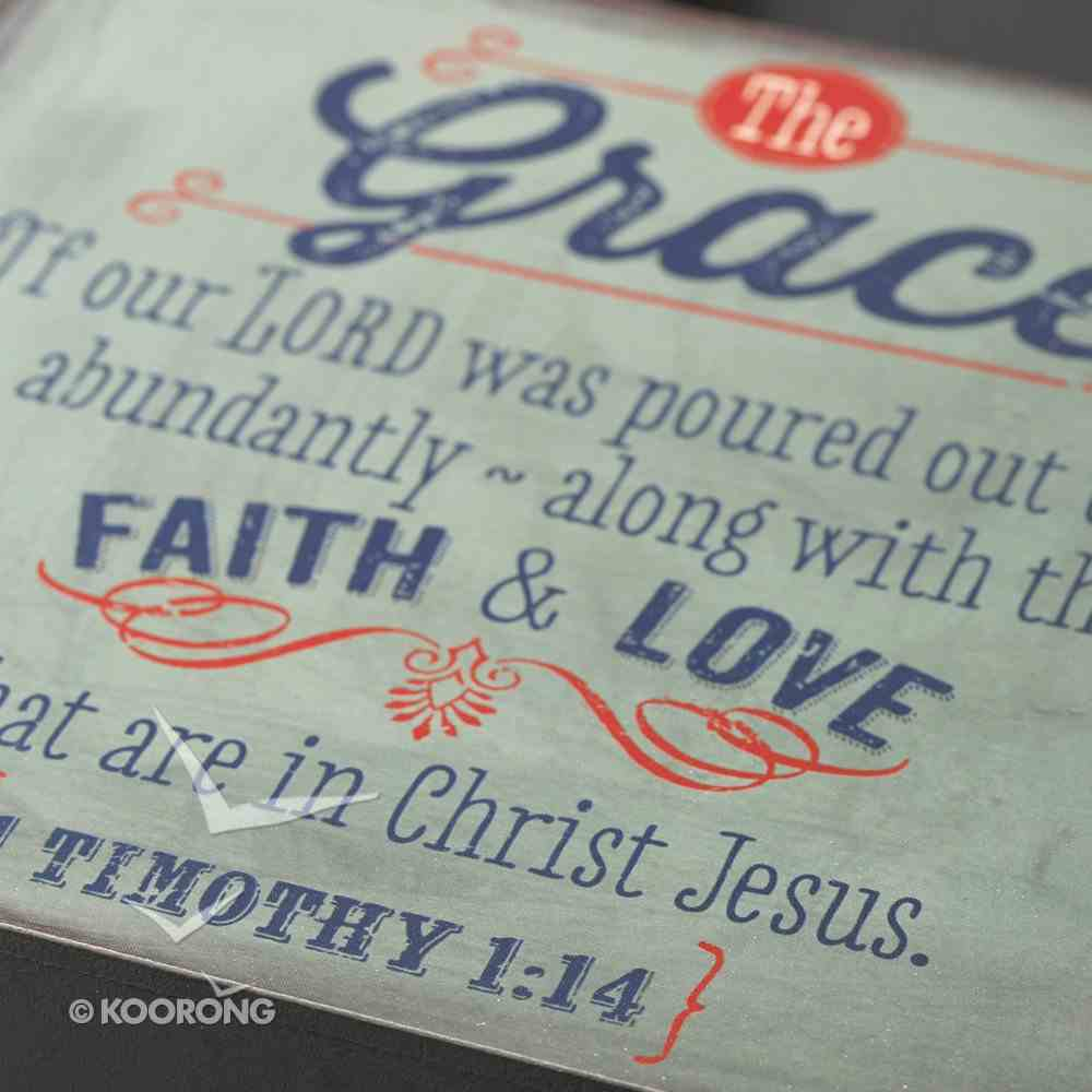 Wooden Block Plaque: Grace (Grey) Plaque