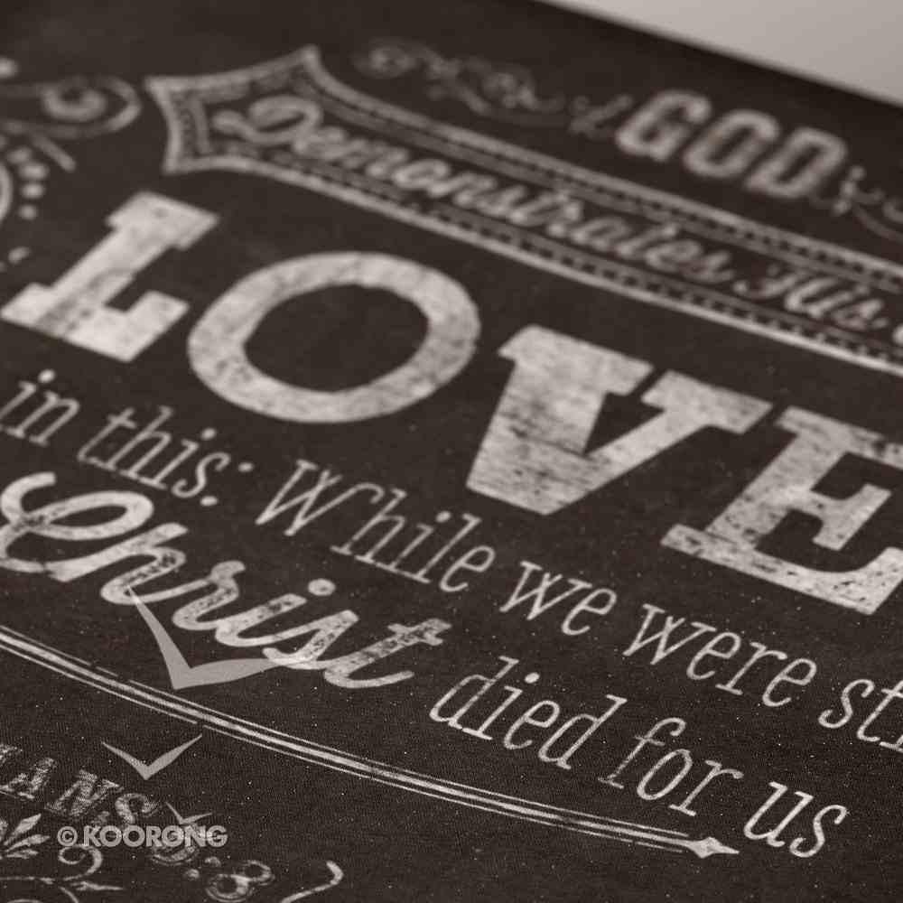 Wooden Block Plaque: Love Chalkboard (Black/white) Plaque