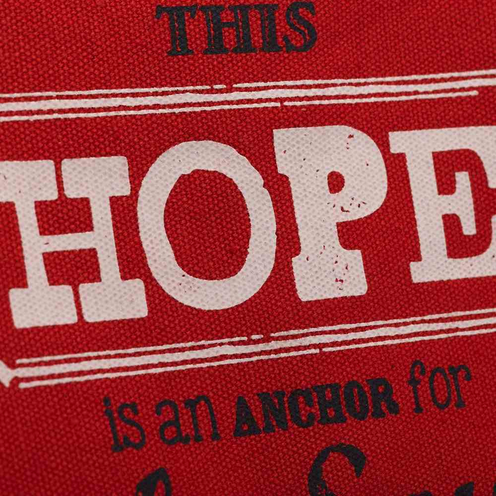Canvas Tote Bag With Magnetic Clasp: Hope, Red With Cream & Navy (Retro Blessings 'Hope' Series) Soft Goods
