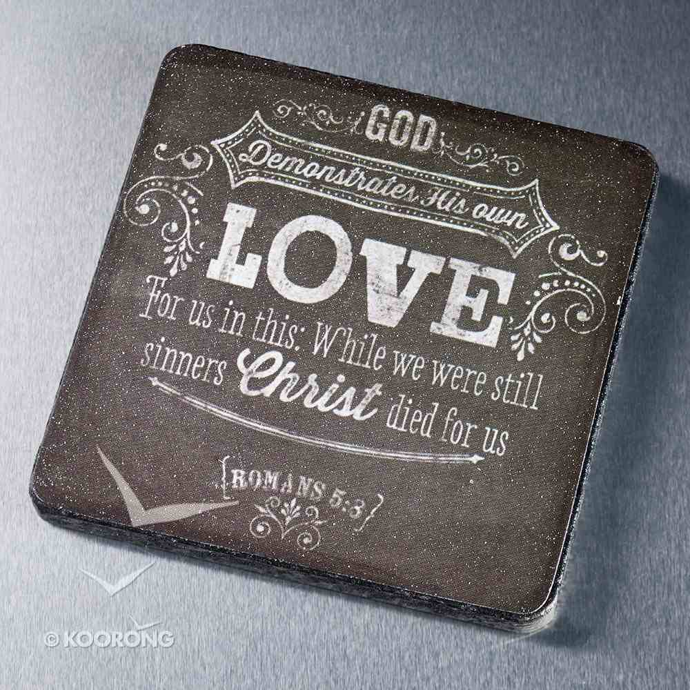 Wooden Magnet With Hanging Tag: Chalkboard Love Black/White Novelty