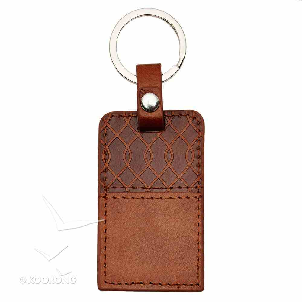 Luxleather Keyring: I Know the Plans... Brown (Jer 29:11) Jewellery