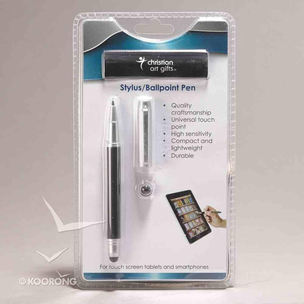 Stylus/Ballpoint Pen: Itrust Black Stationery