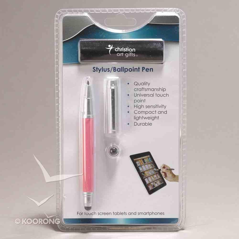 Stylus/Ballpoint Pen: Ibelieve Pink Stationery