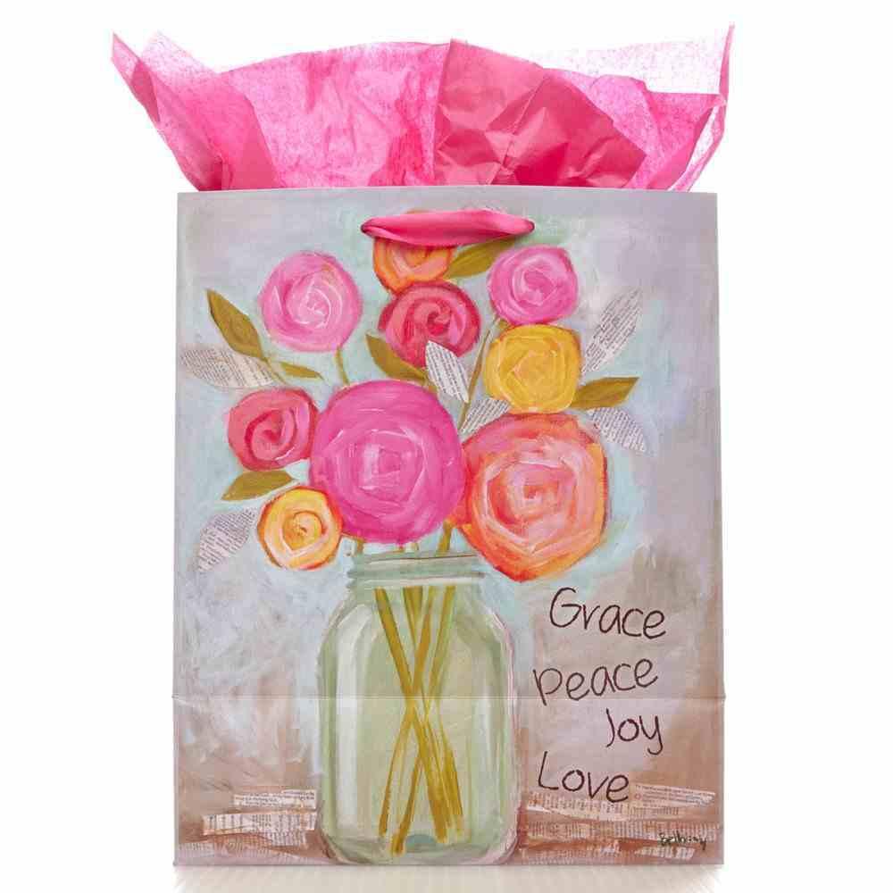 Gift Bag Medium Petals of Praise: Grace Peace Joy Love Stationery