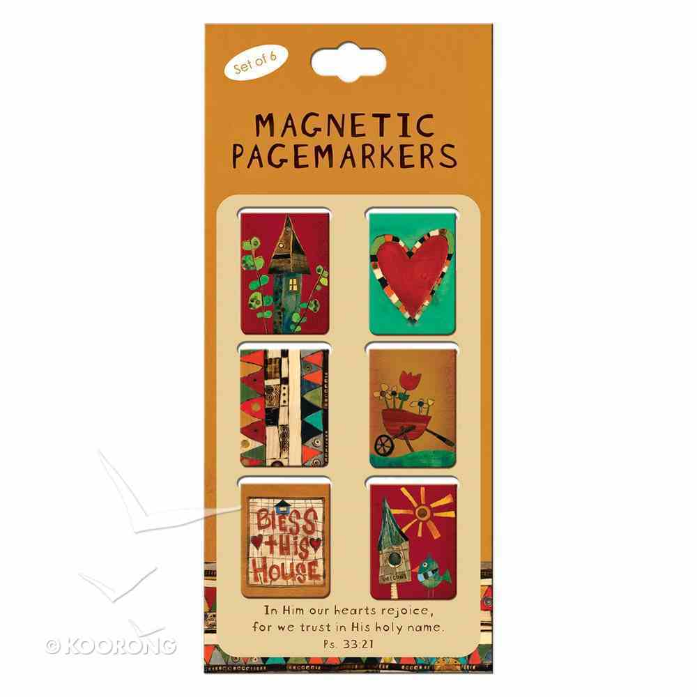 Bookmark Magnetic: In Him Our Hearts Rejoice (Small) (Set Of 6) Stationery