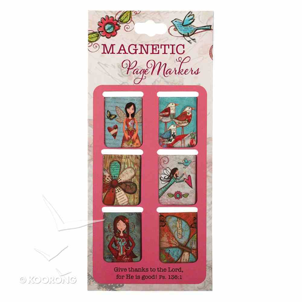 Bookmark Magnetic: Give Thanks (Small) (Set Of 6) Stationery