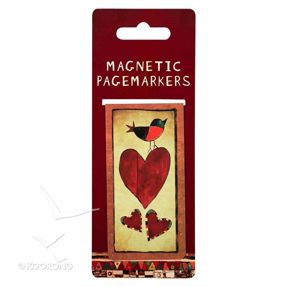 Bookmark Magnetic Large: Hearts Stationery