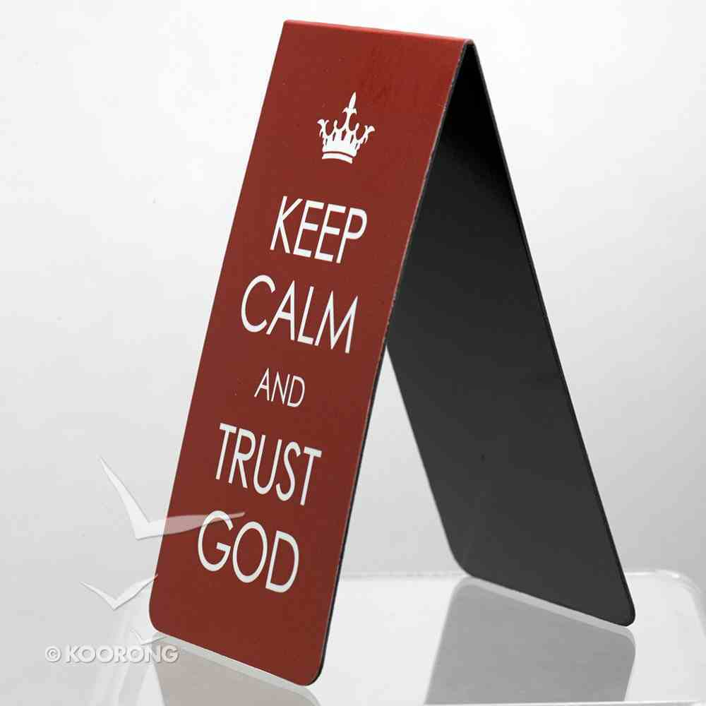 Bookmark Magnetic Large: Keep Calm and Trust God Stationery