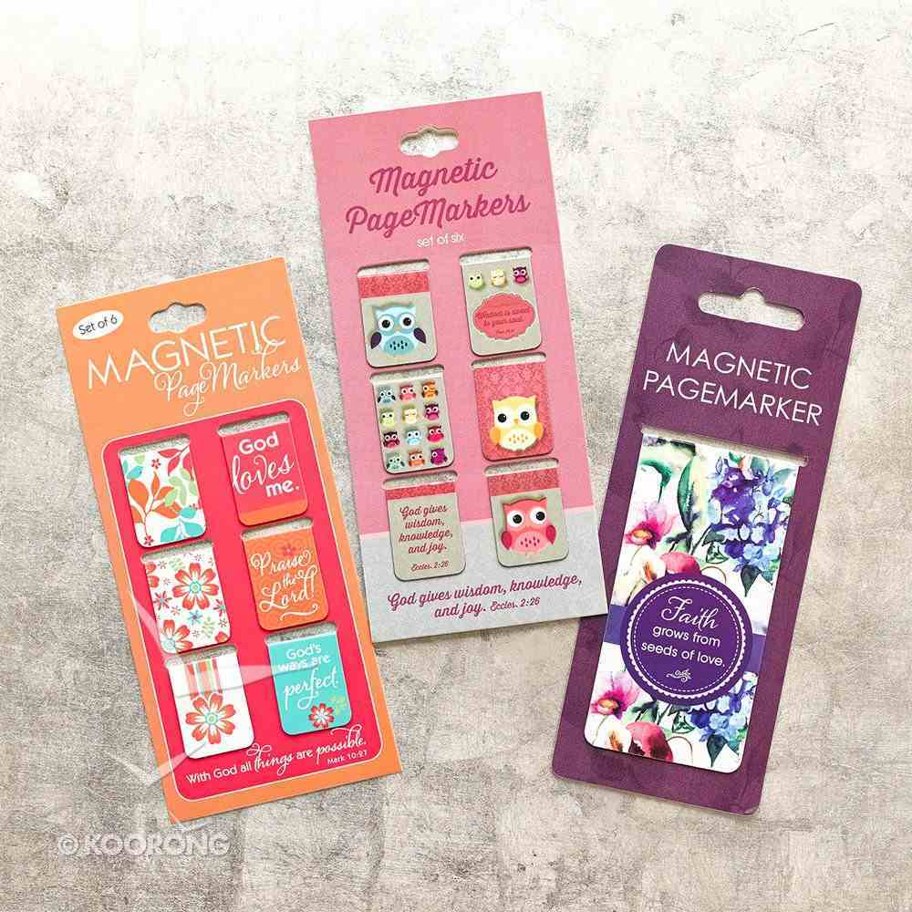 Bookmark Magnetic: Owl - Wisdom For the Soul (Set Of 6) Stationery