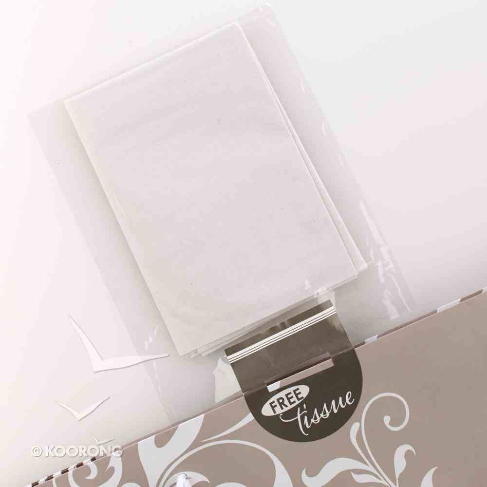 Gift Bag Large: Silver Pattern Stationery