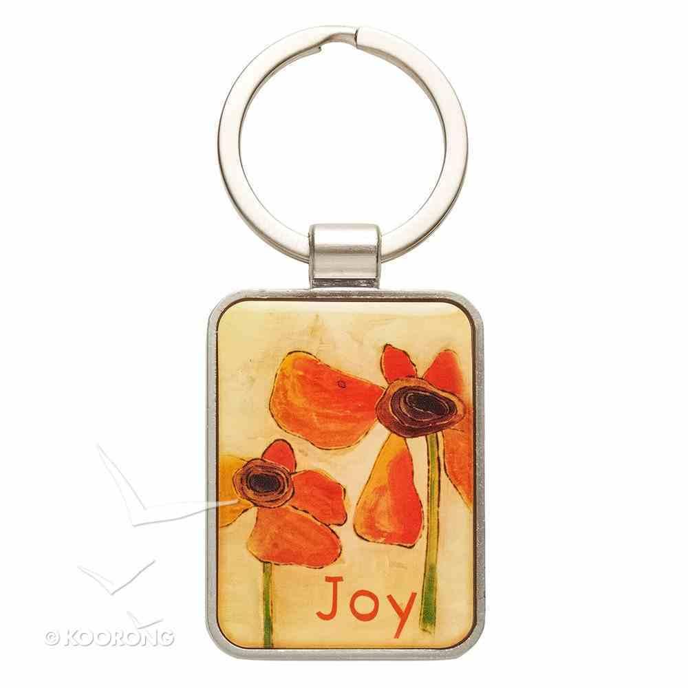 Metal Keyring: Joy, Orange Flower Jewellery