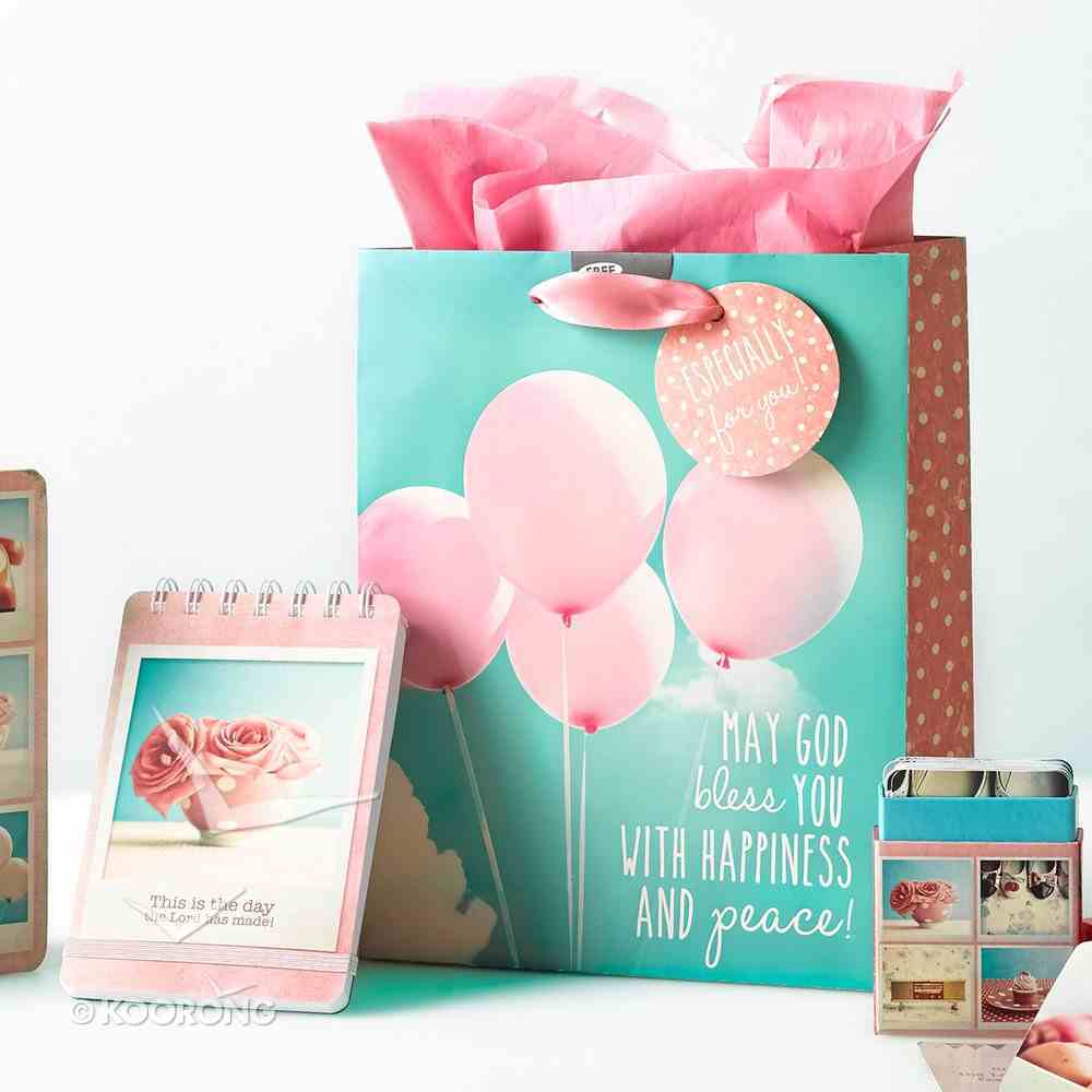 Gift Bag Medium: Life is Beautiful, Balloons, May God Bless You Stationery