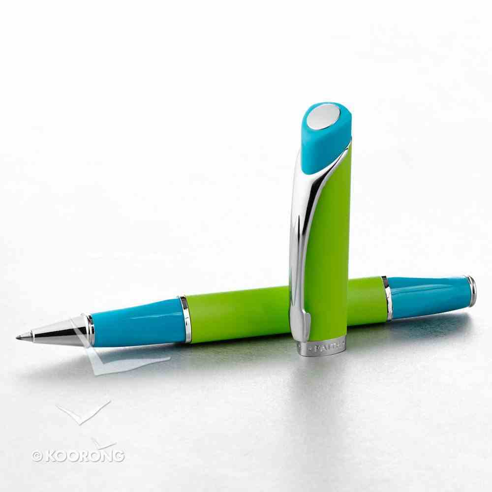 Triangular Pen: Blue/Lime Stationery