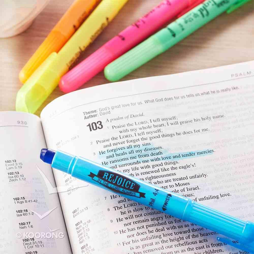 Pen: Twist & Glide Highlighter Set (Set Of 5) Pack