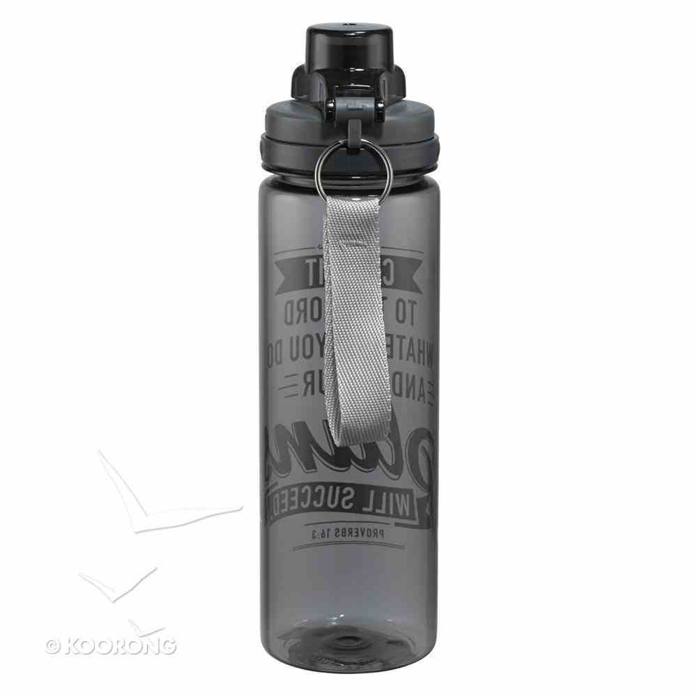 Plastic 700ml Water Bottle: Your Plans Will Succeed (Black) Homeware