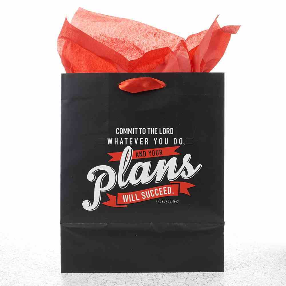 Gift Bag Large: Your Plans Will Succeed (Incl Tissue Paper & Gift Tag) Stationery