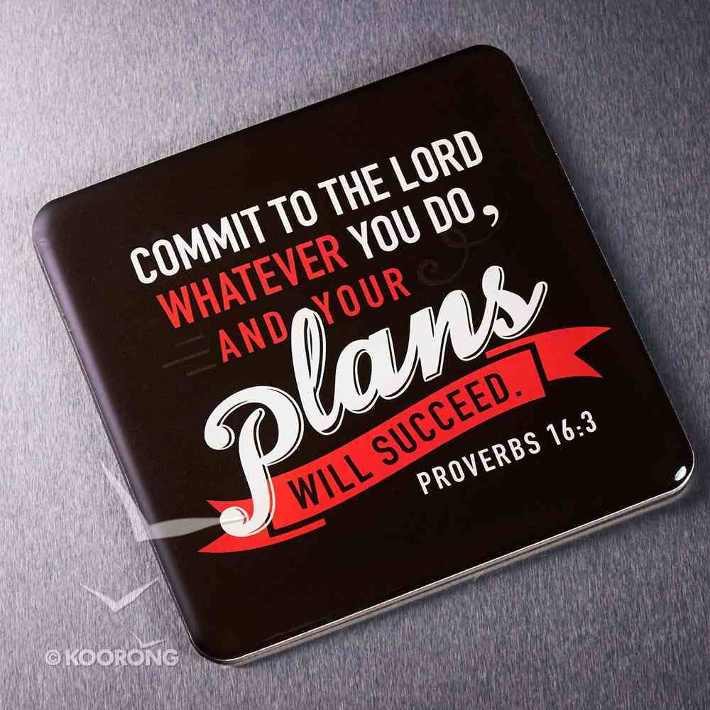 Meaningful Magnet: Your Plans Will Succeed (Proverbs 16:3) Novelty