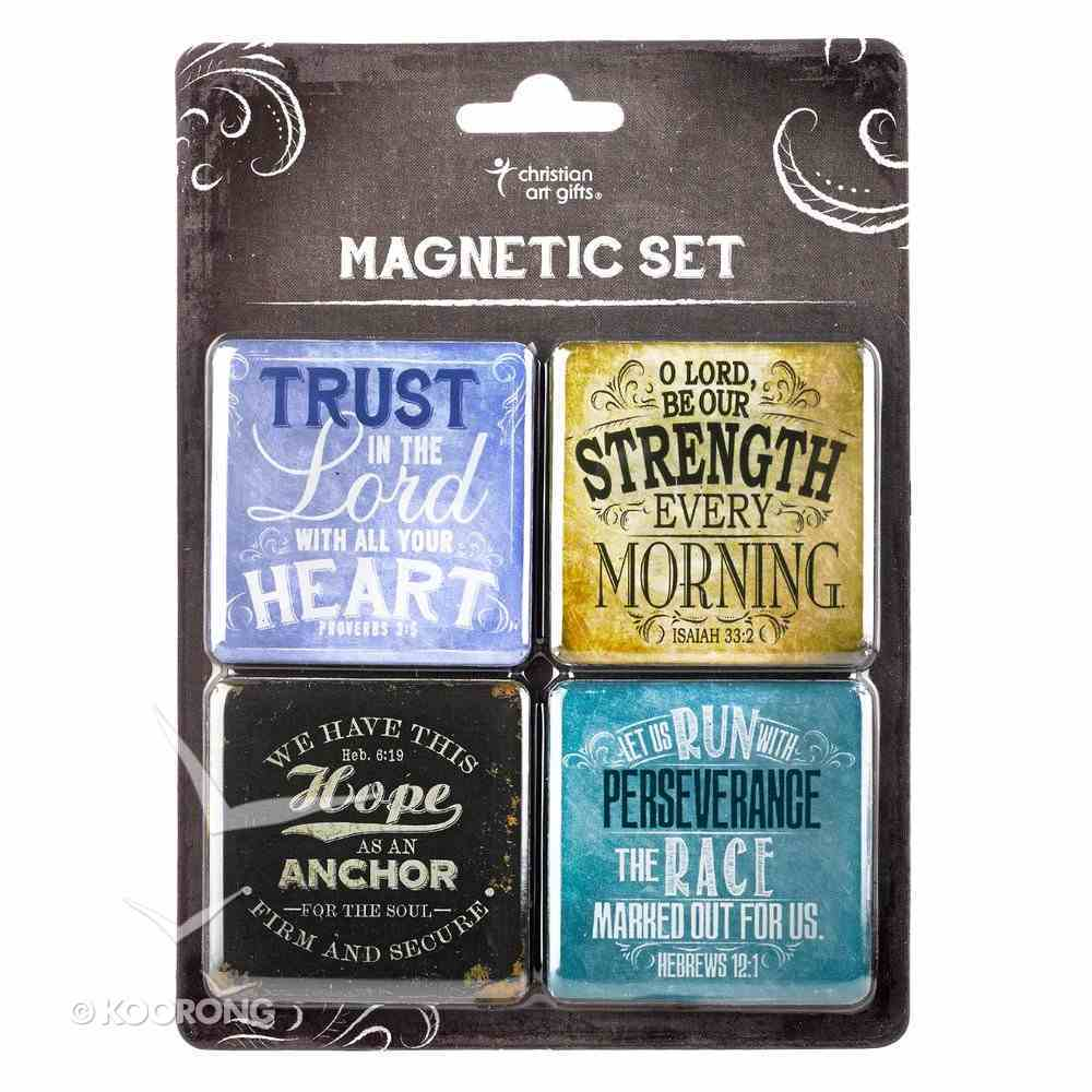 Magnetic Set of 4 Magnets: Finishing Strong Novelty