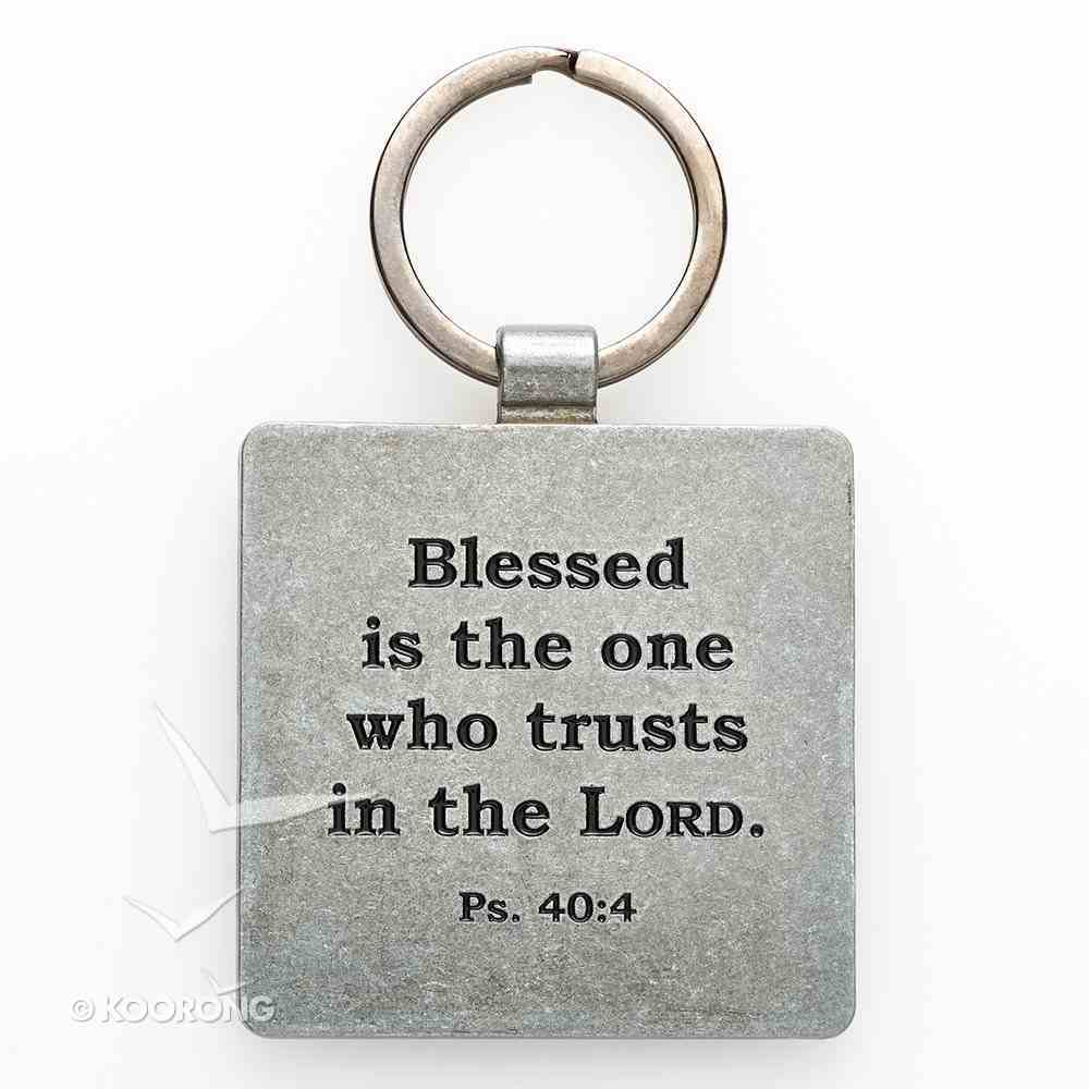Metal Keyring: Finishing Strong: Trust in the Lord (Purple) Jewellery