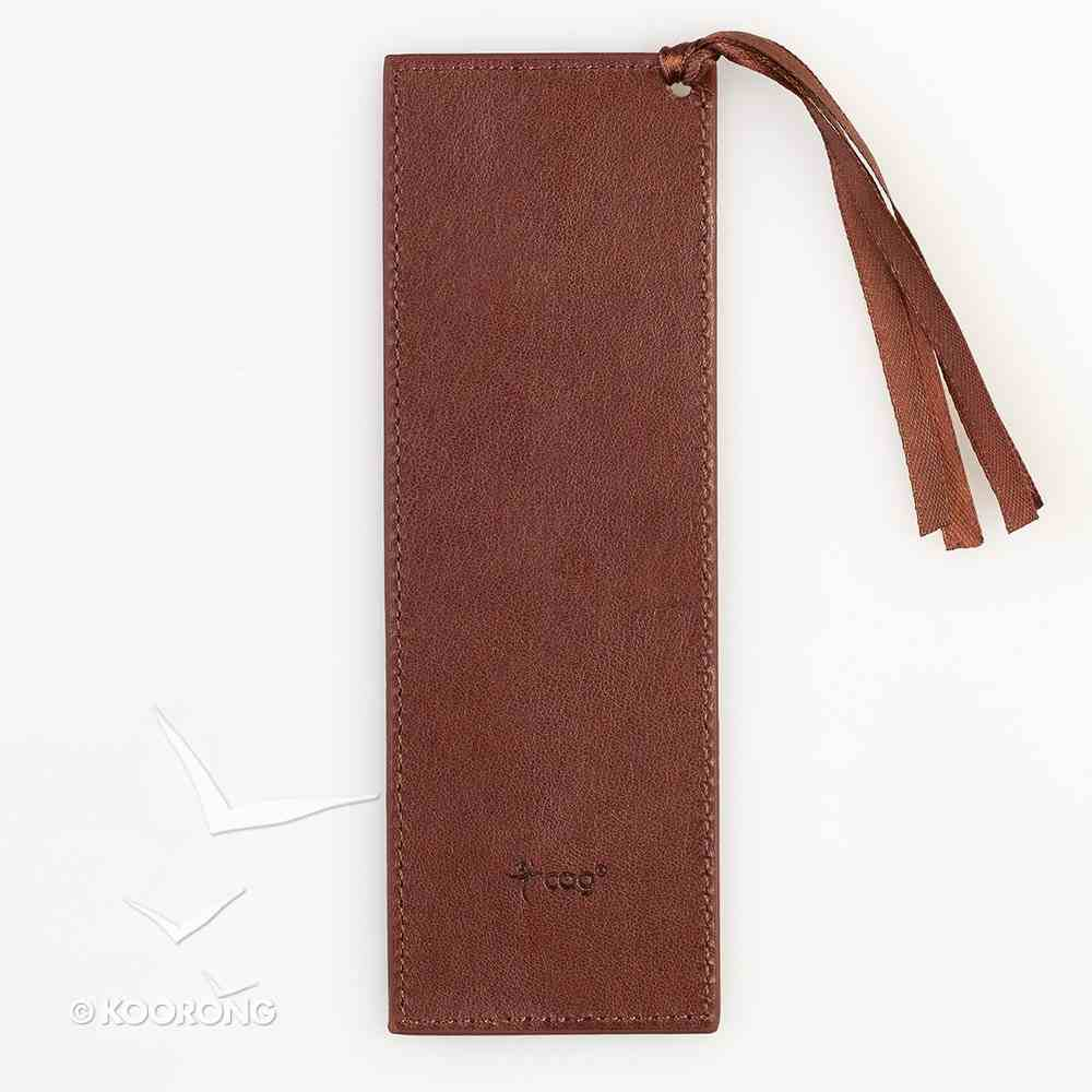 Bookmark Tassel: Steadfast Love, Brown/Tan Imitation Leather