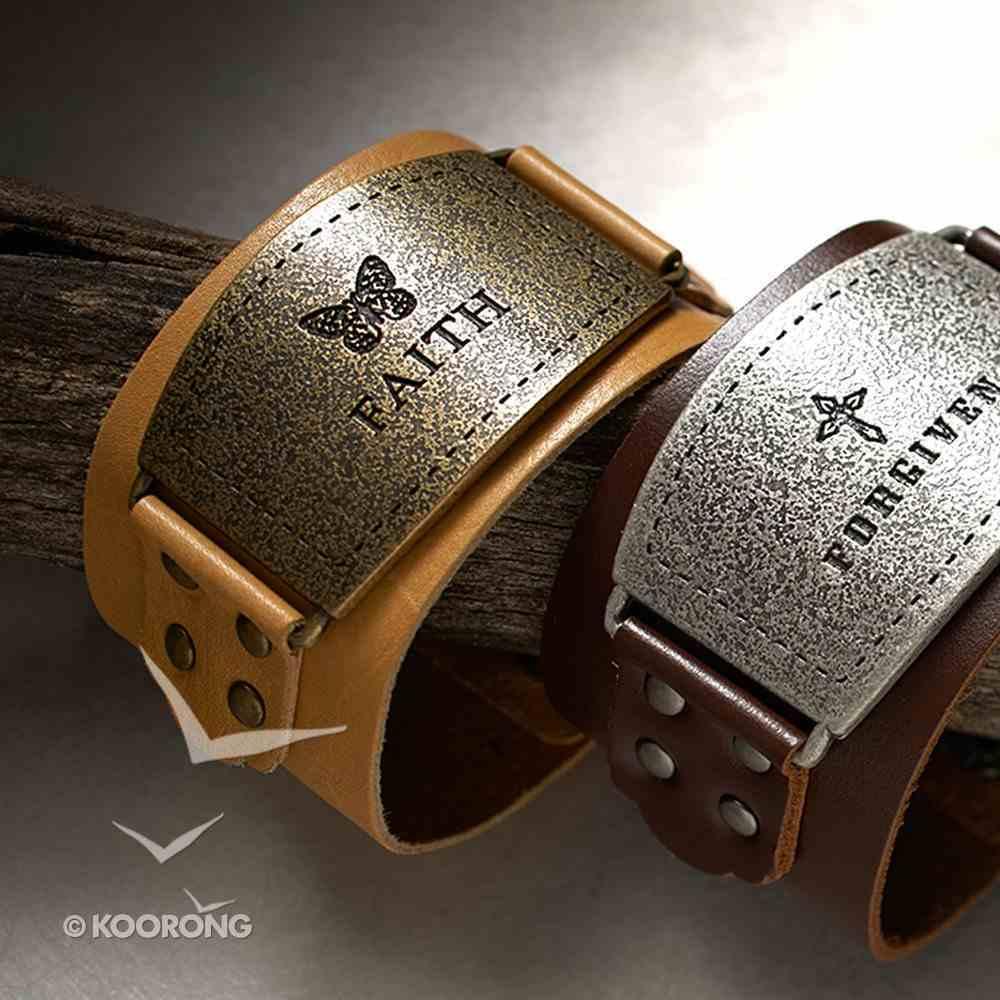 Leather Wriststrap: Faith, Beige Jewellery