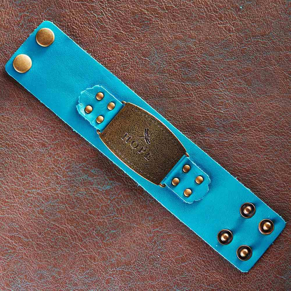 Leather Wriststrap: Hope, Turquoise Jewellery