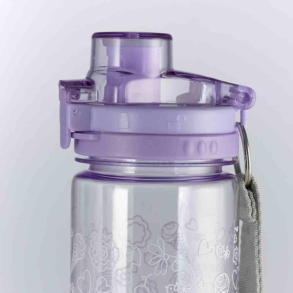 Plastic 700ml Water Bottle Holly & Hope: Do Your Best.. (Purple) Homeware