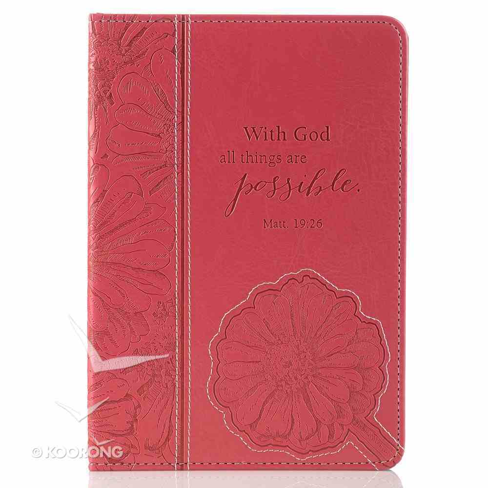 Mini Tablet Cover: With God All Things Are Possible, Pink/Flowers General Gift