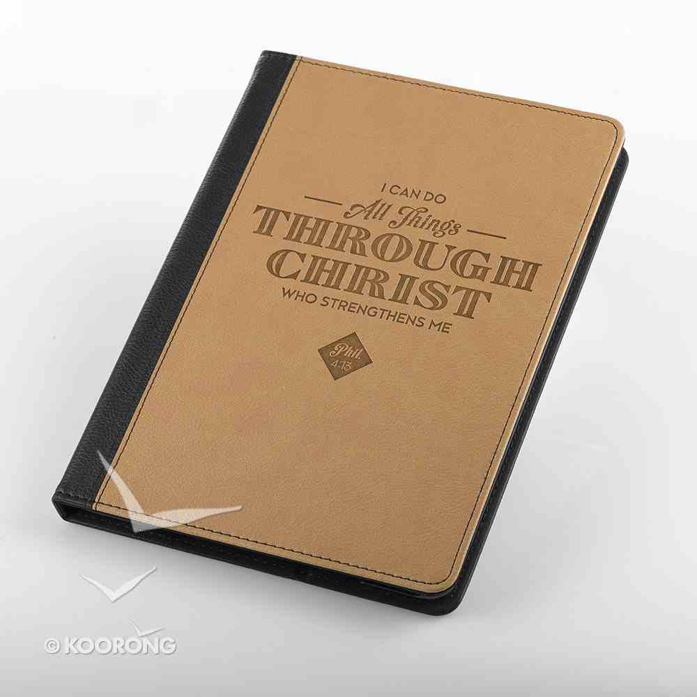 Tablet Cover: All Things Through Christ... Black/Tan General Gift