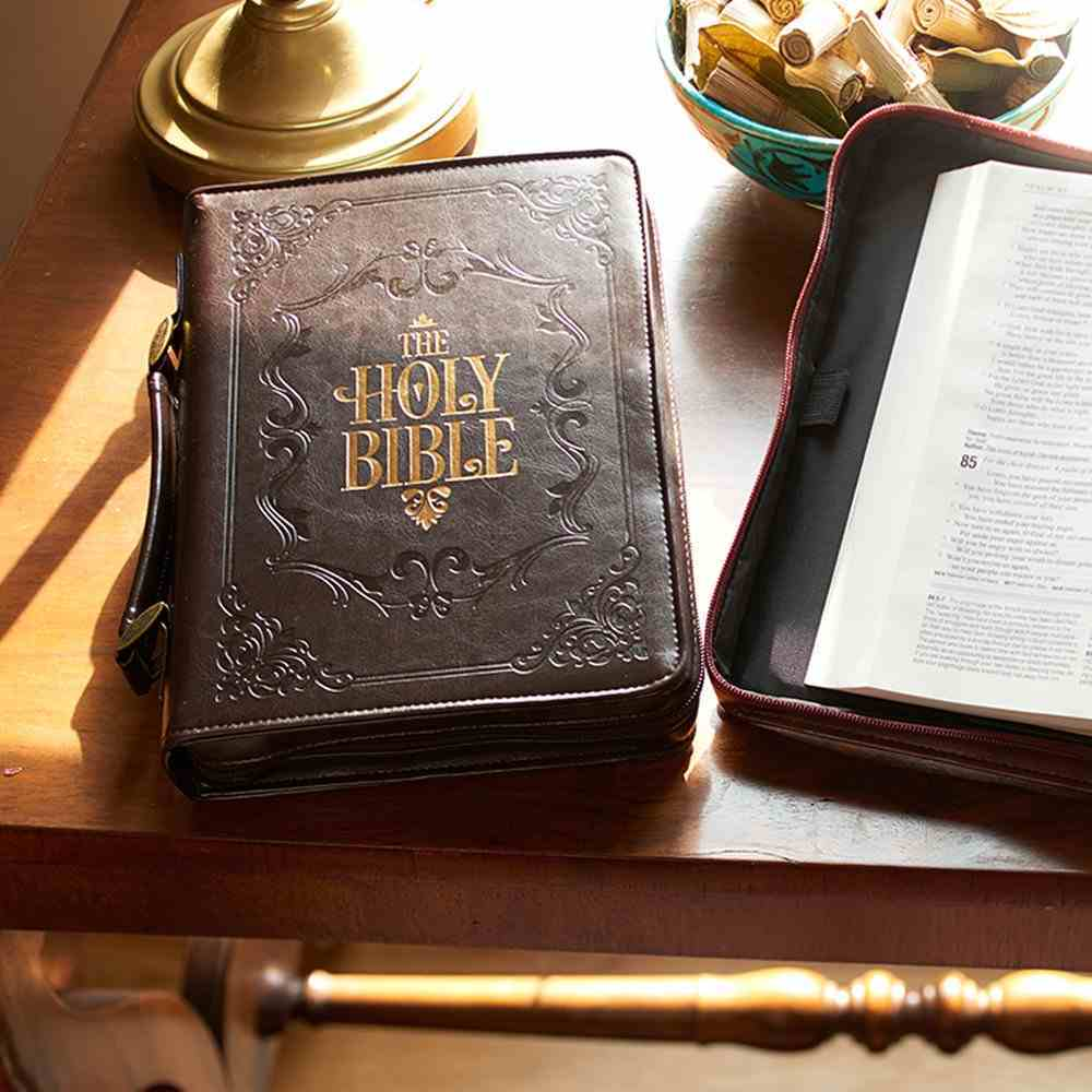 Bible Cover Holy Bible Brown Large Luxleather Bible Cover