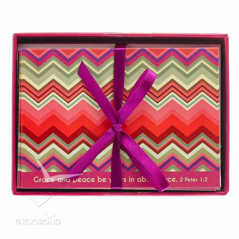 Chevron Chic Boxed Cards: Grace and Peace (2 Peter 3:18) Box
