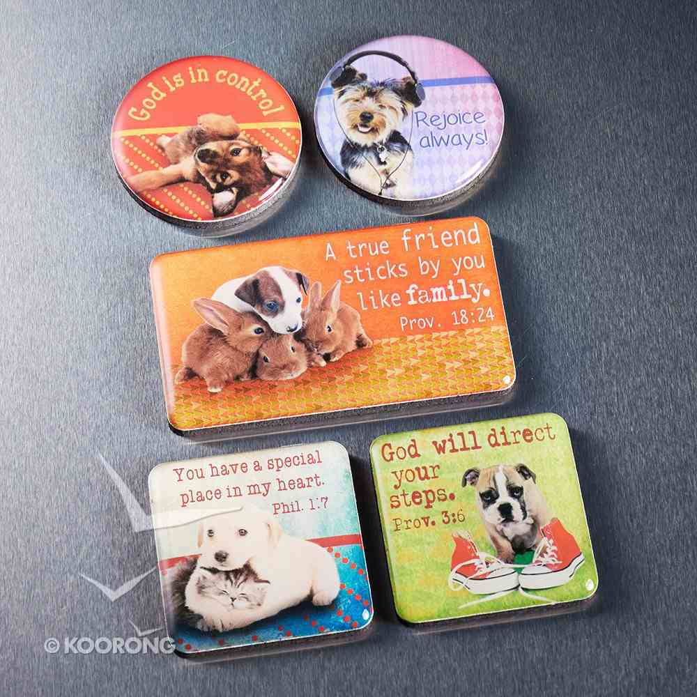 Magnetic Set of 5 Magnets: Pets Novelty