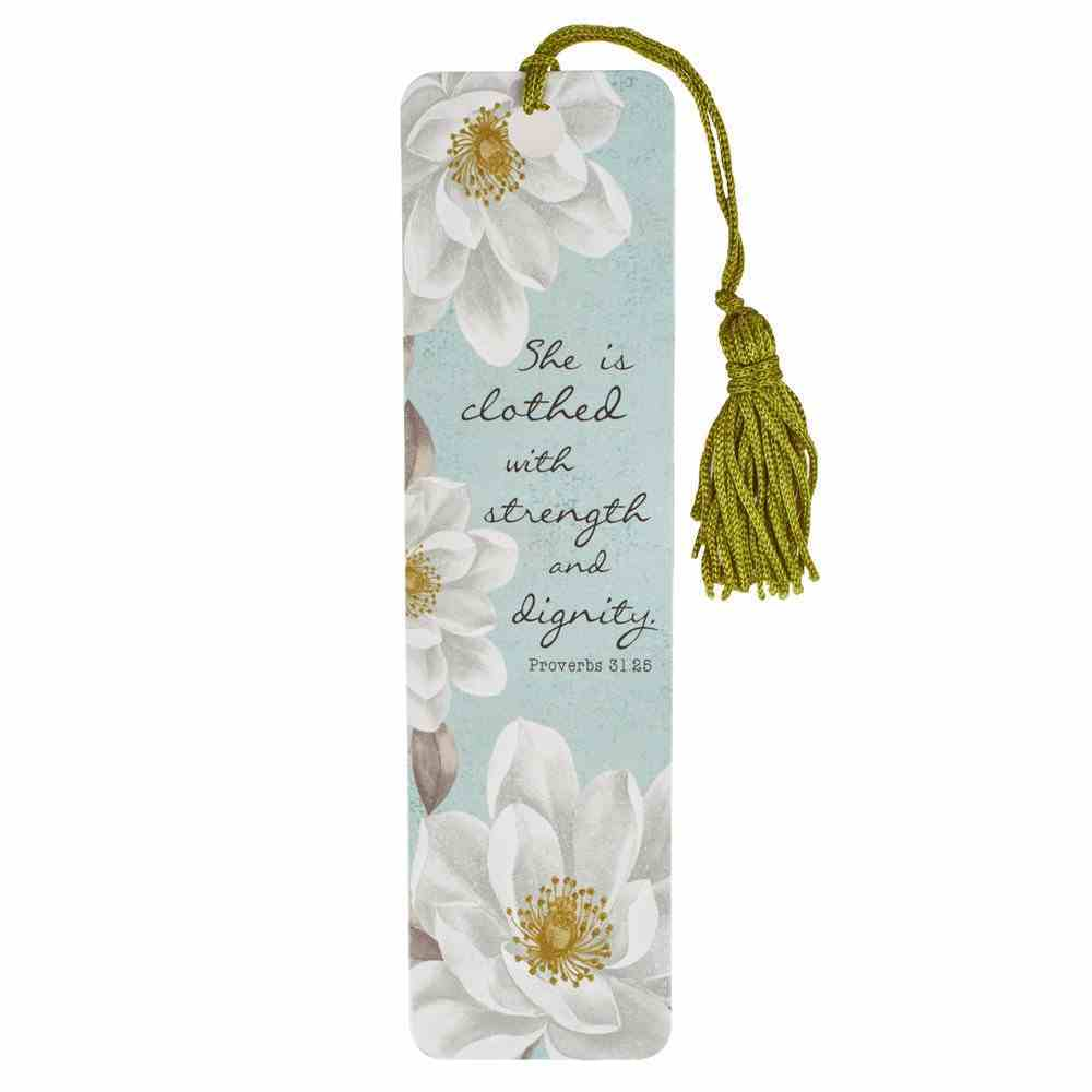 Bookmark With Tassel: She is Clothed With Strength Stationery