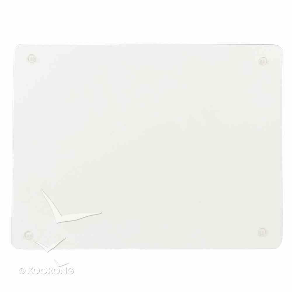 Large Glass Cutting Board: Trust Turquoise Birds Homeware