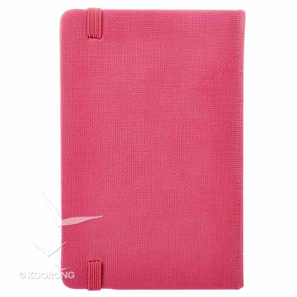 Notepad: Give Thanks With Elastic Band Closure Pink Luxleather Hardback