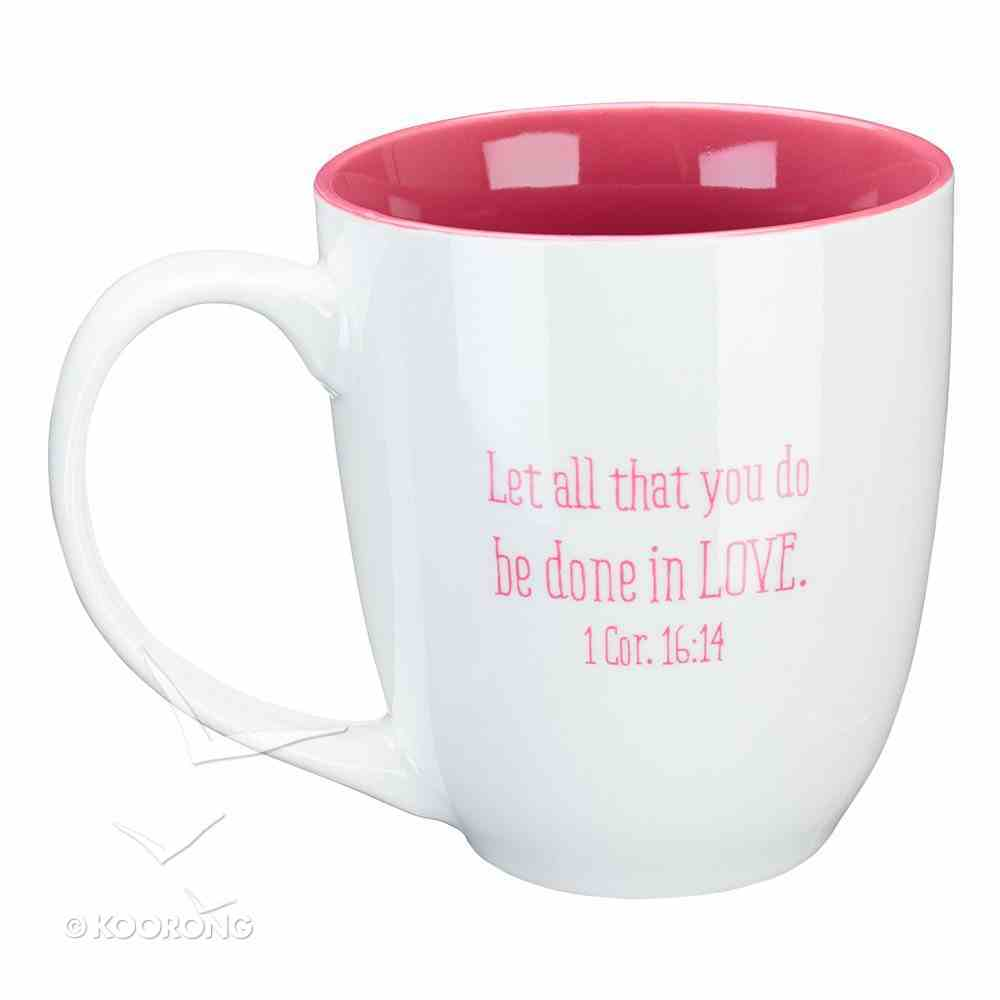 Ceramic Mug: It Takes a Big Heart to Shape Little Minds (White/Pink) (414ml) Homeware