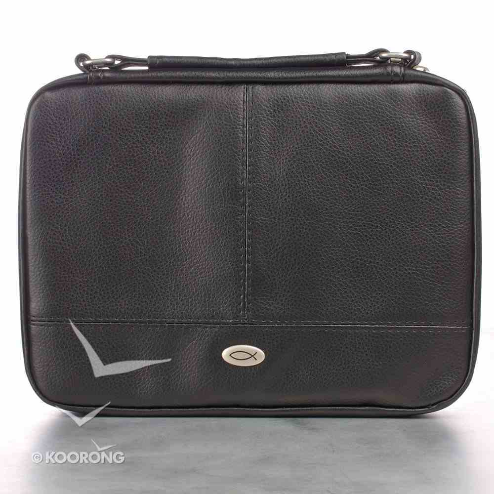 Bible Cover Small Two-Fold Luxleather Organizer Black Bible Cover