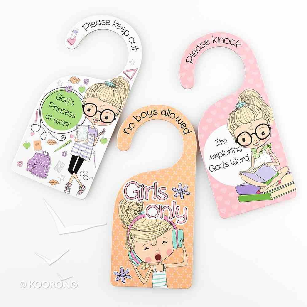 Doorknob Hanger: Holly & Hope - 3 Doubled-Sided Hanger/Set Novelty