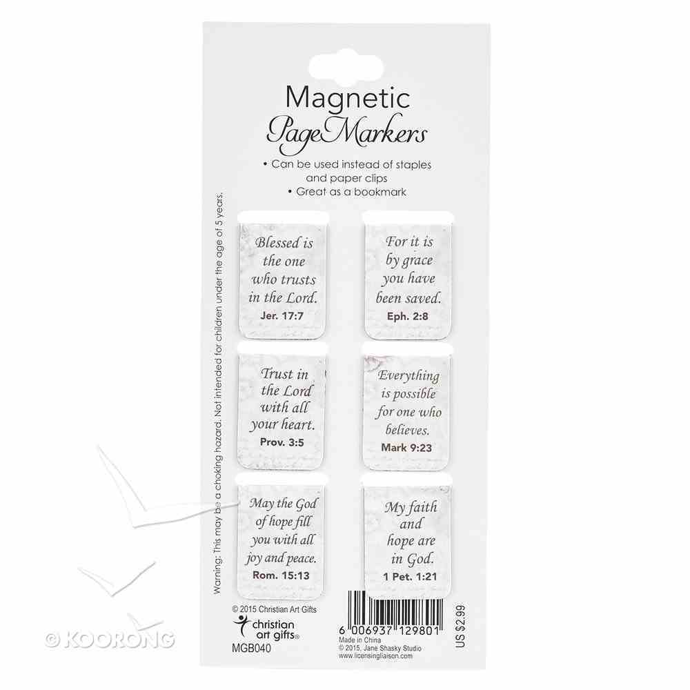 Bookmark Magnetic: It is By Grace You Have Been Saved (Coloured Butterflies) (Set Of 6) Stationery