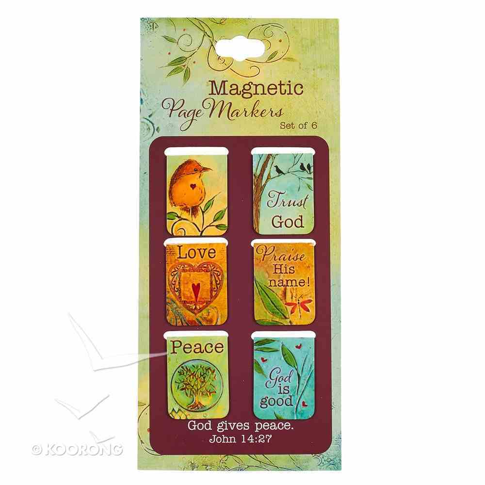 Bookmark Magnetic: God Gives Peace (Set Of 6) Stationery