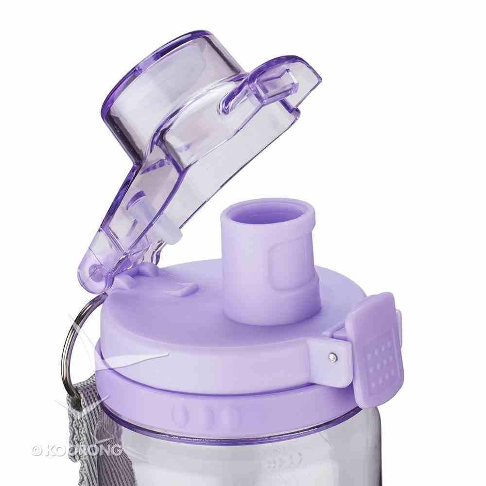 Plastic 750ml Water Bottle: Trust in the Lord (Purple/clear) Homeware