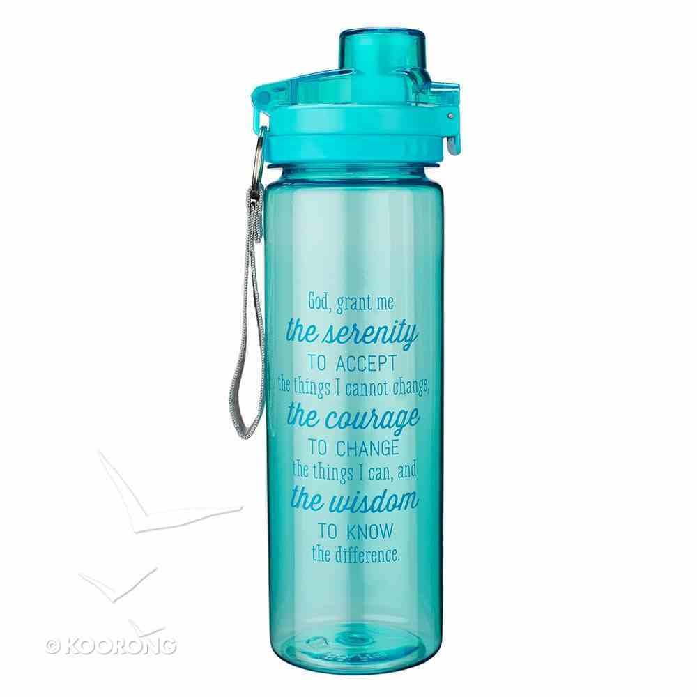 Plastic 750ml Water Bottle: Serenity Prayer _ (Blue) Homeware